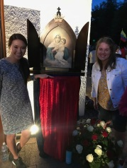 Michelle (another FUS student volunteering) and I with the official photo of Schoenstatt